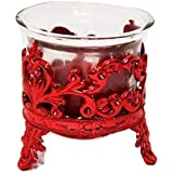 Yali Yolo Tlight Candle With Red Crown Candle Stand Holder Set Of 1 For Birthday Anniversary Hotel Spa Christmas Diwali