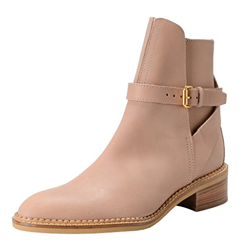 cacharel-womens-beige-leather-ankle-boots-shoes-us-6-it-36