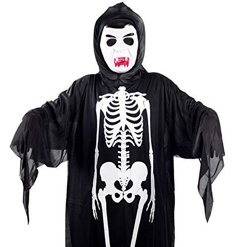 LX~Light Halloween Maske Kleidung Geist Festival Kostüme Geist Kleider + Vampir Maske Einstellen - Bösen Geistes Kind Kostüm
