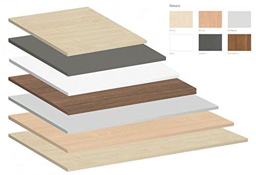 Tischplatte Rechteckform, Tiefe 800 mm x Breite 800/1000/1200/1400/1600/1800/2000 mm, Tischplatte - Dekor:Ahorn;Größe:1200 x 800 - Leben Betrieb Solide