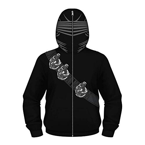 TOOSD Men es Hoodies, Classic Parent-Child Children ' S Special Forces Snake Eye 3D Printing Casual Masking Jacket-XS-L,A,L -