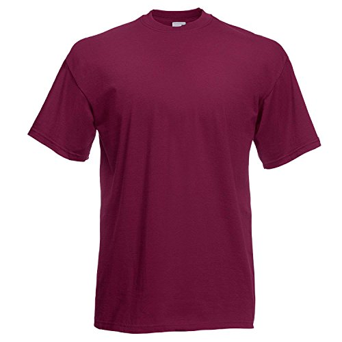 Fruit of the Loom Fitted Valueweight T Burgundy