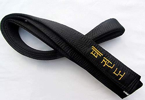 Shihan Cinturón Negro Raso Taekwondo Cinturón Tkd Bordado 300cm para Hombre/Mujer Todos los Estilos de Artes Marciales Karate Cinturón Negro