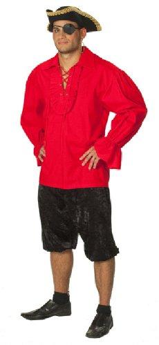 Rubie's Karneval Herren Kostüm Piraten Hemd schwarz Fasching Größe 56 (Schwarzes Piraten Hemd Kostüm)