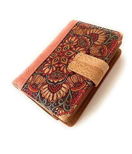 Cartera de Mujer-Monedero con Cremallera- Billetera para Mujeres Hecha