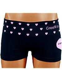 S&LU Damen Hotpants/ Hipsters mit süßem Herz Print S/ M - L/ XL