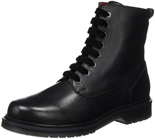 Liebeskind Berlin Damen Ls0127 Nappa Combat Boots Schwarz (ninja black 9998)