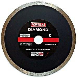 Top Qualität - Kontinuierliche 230 x 22,23 mm Bohrung Diamanttrennscheibe Winkelschleifer für Stein, Granit, Marmor, Steinzeug, Rohre, Fliesen, Terrakotta, Glasur etc.