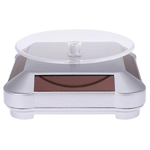 arbetriebene Drehteller mit LED-Licht für Display von Uhr Telefon Schmuck Ring usw - Silber ()