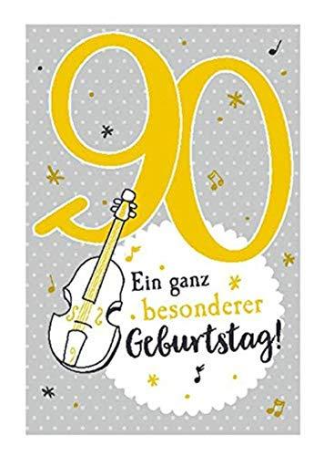 Depesche 5698.112Tarjeta de felicitación con música, 90cumpleaños