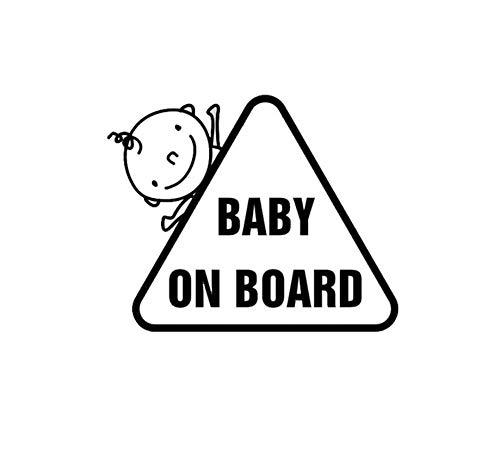 19,1 * 7,5 CM BABY AN BORD Persönlichkeit Lustige Cartoon Auto Aufkleber Vinyl Aufkleber/3PCS (Halloween Sauber, Lustig, Cartoons)