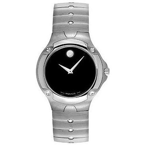 Movado 604458 - Orologio da polso da uomo, cinturino in acciaio inox colore argento