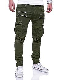 MT Styles Zipper Biker Jeans Slim Fit Hose RJ-3196