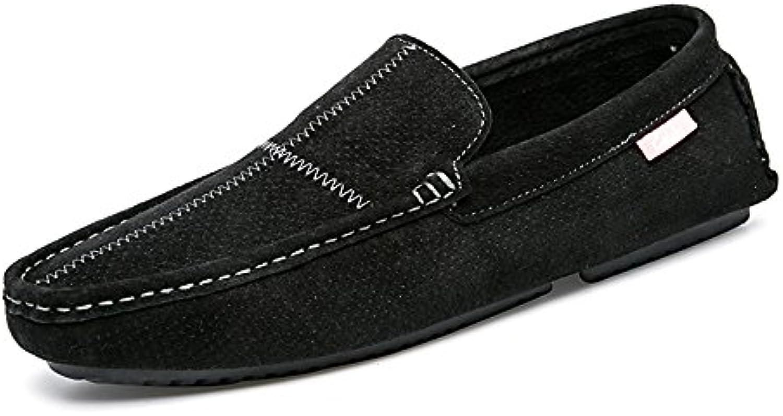 Zapatos Casuales de Cuero de Primavera y Verano Zapatos Casuales de Hombres Respirables