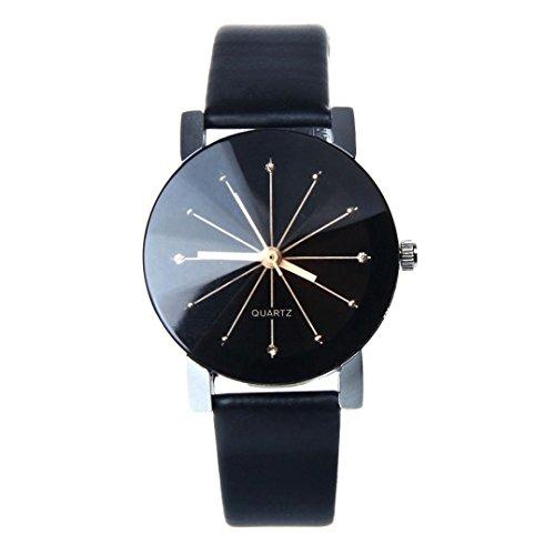 Armbanduhr Damen Uhr 2018 Persönlichkeit Quarz Lederband Newv Bügel Analoge Frauen Damenuhr Verschiedene 6 Farben Schwarz (Stadard, Schwarz 43)