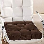 وسادة كرسي مزخرفة من القماش القطني من كوبر اندستريز/ دعم خلفي/ وسادة مقعد وخياطة يدوية الصنع، 14انش × 14انش (ب