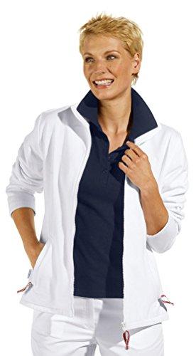 Kosmetikerinnen Jacke (clinicfashion 13014004 Sweat-Jacke für Damen, weiß, Mischgewebe, Größe XL)