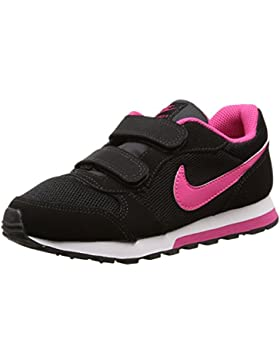 Nike MD Runner 2 (PSV) - Zapatillas para niña, Color Negro/Rosa / Blanco