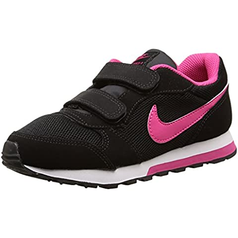 Nike MD Runner 2 (PSV) - Zapatillas para niña, color negro / rosa / blanco