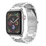 Holatee Correas de Reloj Correa de Pulsera Acero Inoxidable para Apple Watch Series 4 44mm Correa de Muñeca Repuesto
