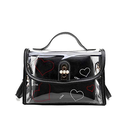 holitie Damen Umhängetasche Taschen Shoulder Bag Handtasche Schultertasche Satchel Schulter handbag Rucksack,Transparente Kleine Quadratische Tasche Weibliche Geleebeutel ()