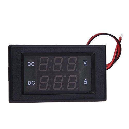 hillrong DC 0–600V Voltmeter 20A Amperemeter KFZ LCD Digital Dual Display Monitor, schwarz