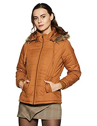 Qube By Fort Collins Women's Parka Hoodie (MS 21 SMU_Tan_XXL)