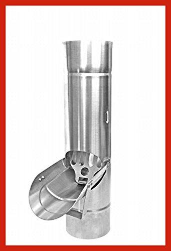 Regenrohrklappe mit Sieb Titanzink in den Größen 76, 80, 87 und 100 mm (100 mm)
