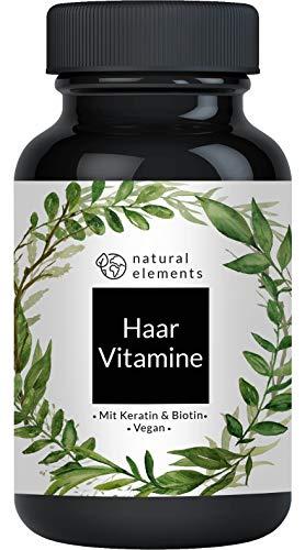 Haar-Vitamine - Einführungspreis - 180 Kapseln - Hochdosiert mit Keratin, Biotin, Zink, Selen, Hirseextrakt, OPC, Folat & mehr - Mit Premiumrohstoffen - Laborgeprüft, vegan und made in Germany