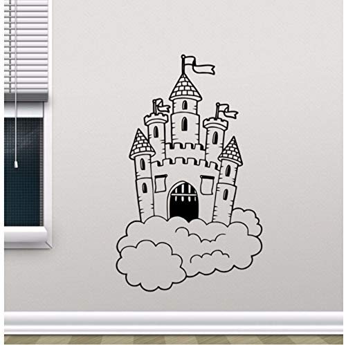 hmbare Burg In Wolken Wandtattoo Kinderzimmer Wandbild Kinder Schlafzimmer Dekor Magic Kingdom Vinyl Aufkleber Kinderzimmer Dekor ()