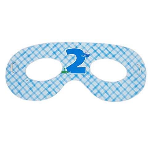 2 Packs Parti Eye Mask Decor Birthday Party Supply Party, garçon de 2 ans
