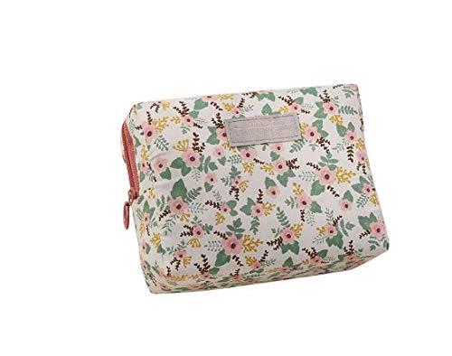 DUNDUNGUOJI DUNDUNGUOJI Make-Up Pouches Portable Mini Purse Travel Wash Bag Toiletry Sweet Floral Cosmetic Bag Organizer Beauty Pouch Kit Makeup 16 * 6 * 12cm/Beige