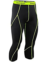 Baleaf Herren Cool Fitness Laufhose Kompression 3/4 Leggings