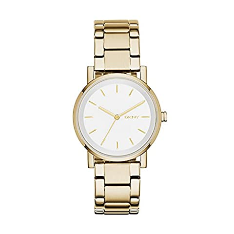 DKNY Damen-Armbanduhr Analog Quarz Edelstahl NY2343