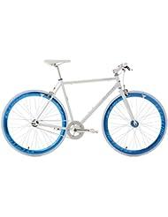 KS Cycling Fitnessbike Pegado RH 59 cm Fahrrad, Weiß-Blau, 28