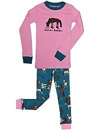 LazyOne Niñas Pasture Bedtime Niño Pijama ...