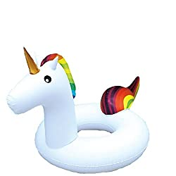 GadgetKing Giant Inflatable Unicorn Water Float Raft Summer Swim Pool Lounger Beach Ring