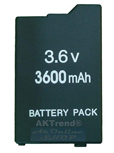 Original AKTrend® Ersatz Power Akku 3600mAh für PSP Slim&Lite 2000 3000 2004 3004 (NEU) - PSP AKMTAS (Psp Slim Ersatz)