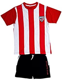 ATHLETIC CLUB BILBAO - Pijama, Color Rojo, Blanco Y Negro, Talla 4