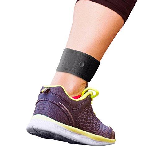 Para uso con Garmin & Fitbit banda correa de tobillo. El contador de paso tobillo. Llevar con Fitbit Flex 1/2, Fitbit one, Fitbit alta/HR, Fitbit Charge HR 2, o Garmin Vivofit 1/2/3/JR., Negro