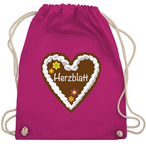 chenherz Herzblatt - Unisize - Fuchsia - WM110 - Turnbeutel & Gym Bag ()
