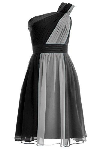 MACloth 2016 Women A Line Chiffon Short Cocktail Party Dress Formal Evening Gown Grau