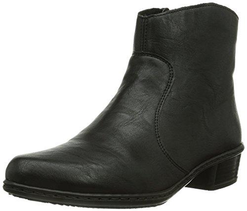 Rieker Y0761, Damen Kurzschaft Stiefel, Schwarz (schwarz/00), 39 EU (6 Damen - Kostüm Galerie Modell