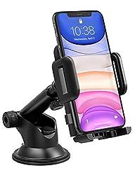 Mpow Handyhalterung Auto KFZ Smartphone Halterung Armaturenbrett/Windschutzscheibe Handy Halter für Auto,2 in 1 Handyhalter fürs Auto für alle Handys bis zu 3,7 Zoll,Wie iPhone11 pro,Galaxy, oder GPS