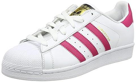 Adidas B23644, Chaussures de basketball Fille, Blanc - Weiß (Ftwr White/Bold Pink/Ftwr White), 38