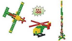 Amewi Fanclastic Set Aircraft 3-in-1 - Juguetes de construcción (Juego de construcción, Negro, Verde, Rojo, Amarillo, 6 año(s), 55 Pieza(s), Niño/niña)