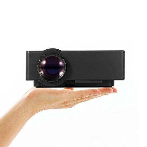 Mini Beamer,OCDAY beamer HD Video LCD Beamer 1500 Lumen Support 1080P / USB / VGA / SD / HDMI für Xbox / iphone / Smartphone / PC