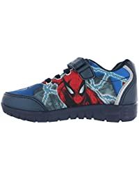 7d3a16e79bba BOYS SPIDERMAN BLUE RED CARTOON PRINTED TRAINER SPIDER MAN CHILDRENS SHOES  7-1