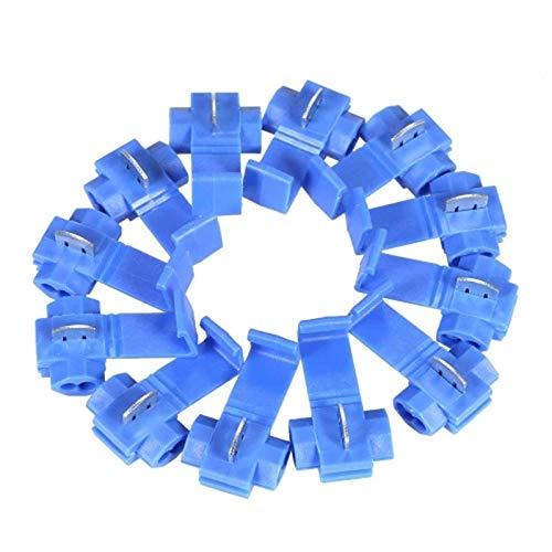SNOWINSPRING 100 Stücke Blaue Sperre 16-14 Awg Steckverbinder Elektrische Draht Kabel Isolierte Schnell Verbinder Crimp Verbinder (2-leiter 16-gauge)