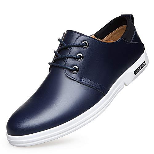 XI-GUA Herren Lederschuhe weiche Spitze aus weichem Leder niedrige Schuhe Frühling und Herbst lässig Stadt atmungsaktive Schuhe tragen (Setter Schuhe Irish)